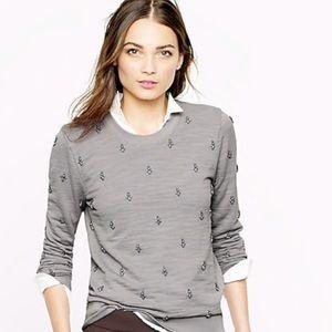 Jcrew Painted Jewel Sweatshirt